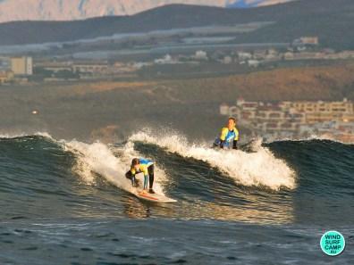 Серфинг утром в Лас Америкас