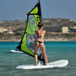 A sexy windsurfing babe
