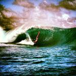 Boujmaa in the tube at Teahupo