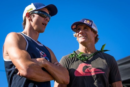 The beach was full of World Champions.  Jason Polakow was unable to  compete this year, Robby Naish is.
