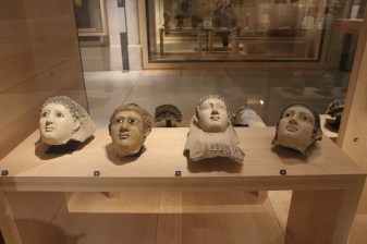 Funeral masks from Roman Egypt.