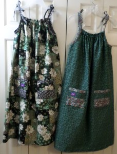 My second two dresses.
