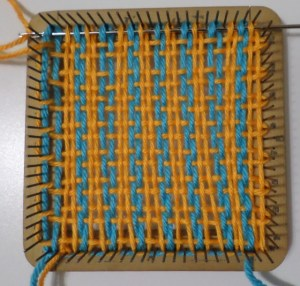 Weaving layer 1, row 16.