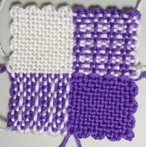 The finished square (front).
