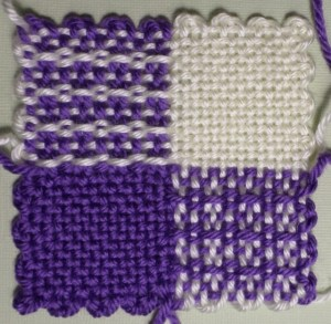 The finished square (reverse).