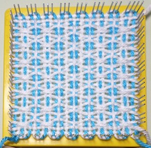 Finished square, still on loom.