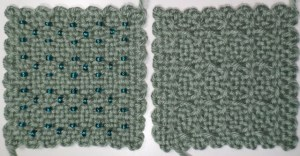 """""""Horizontal Xs (Modified)"""" without and with beads"""