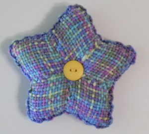 Star cushion--variegated side.
