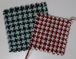 "5"" and 4"" Houndstooth Check squares"