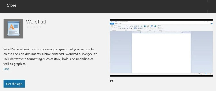 wordpad-appx