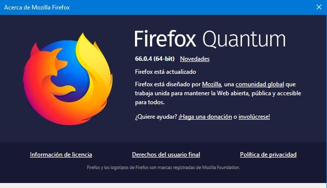 Firefox Quantum 66.0.4