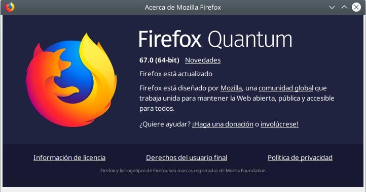 Firefox Quantum 67.0