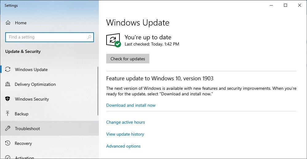 Windows 10 May 2019
