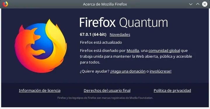 Firefox Quantum 67.0.1