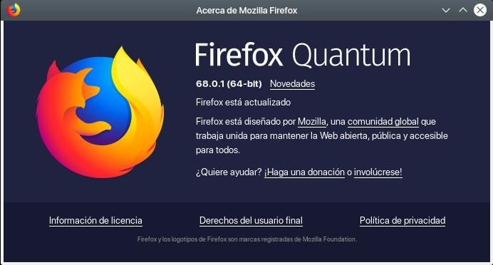 Firefox Quantum 68.0.1