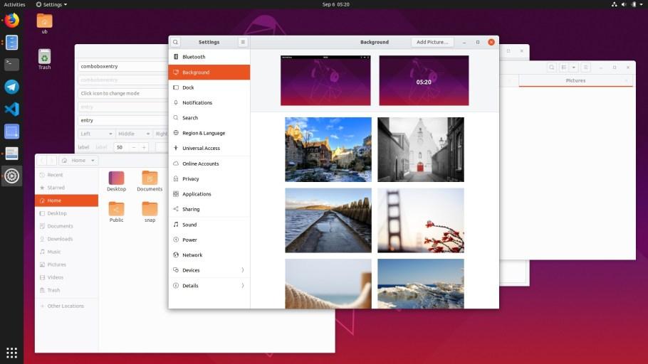 Ubuntu 19.10 tema claro yaru