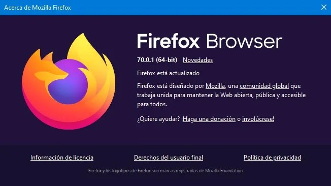 Firefox Browser 70.0.1