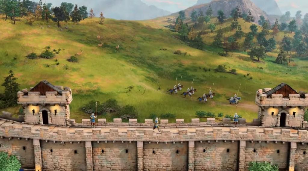 Unidades en muros age of empire 4