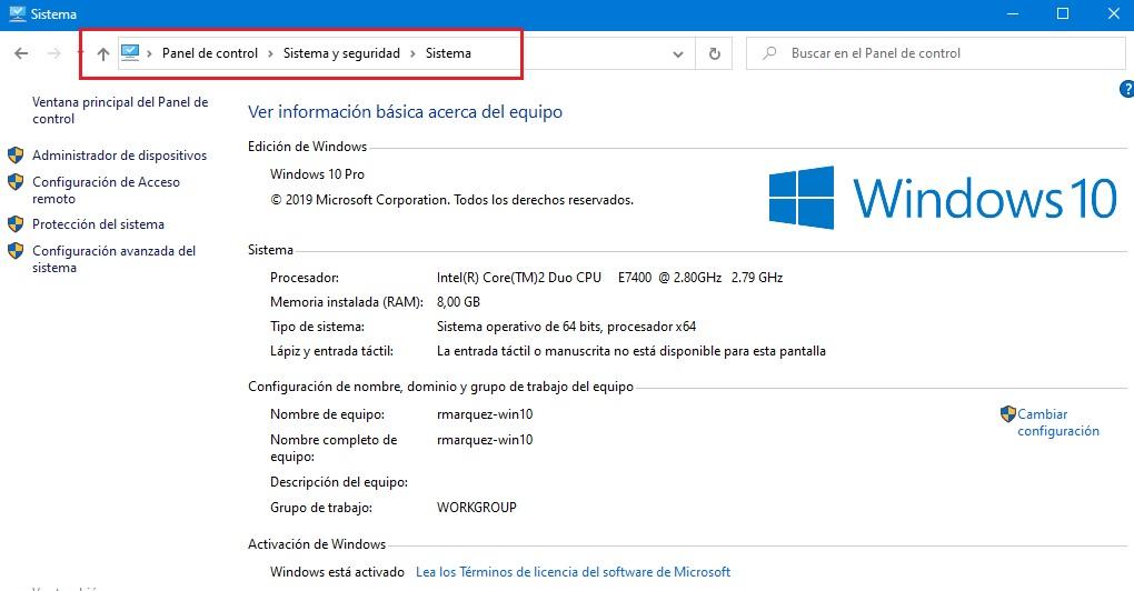 bypass bloqueo microsoft al panel de control windows 10