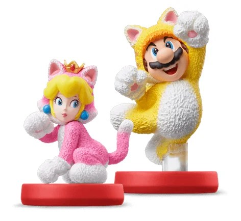 cat mario y cat peach nintendo super mario 3d world