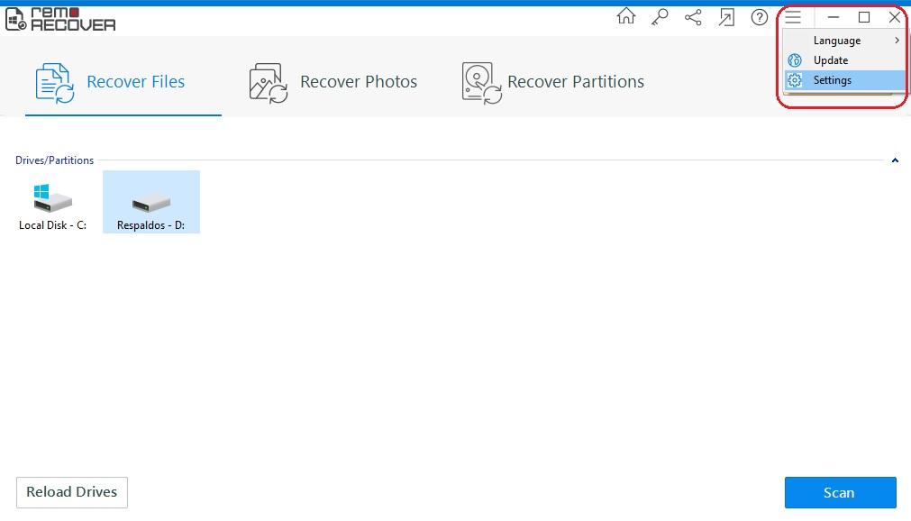 escanear 02 Remo Data Recovery