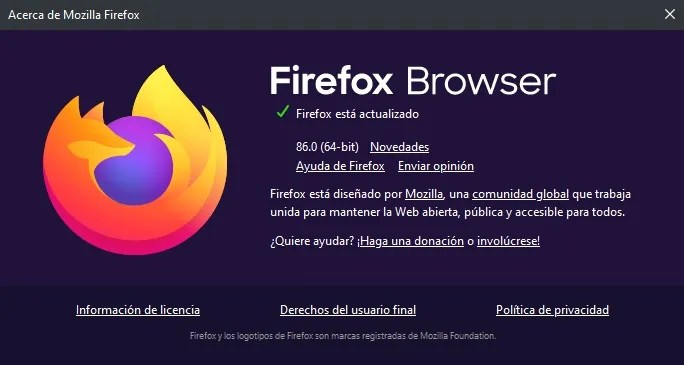 firefox browser 86