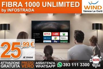 Promozione Wind Fibra Varese con Open Fiber a 25,99€ al mese