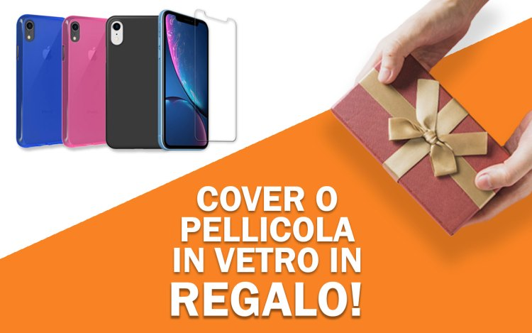 iPhone XR, solo da noi cover o pellicola in vetro in regalo