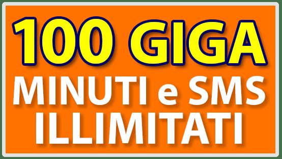 Promo con 100 giga, minuti e sms illimitati