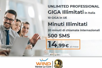 Promozione Wind per professionisti; giga, minuti e sms per il tuo business