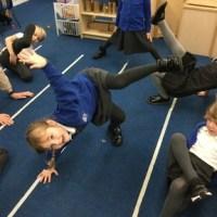 Balancing and stretching!