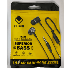 Villaon VE212 In-Ear Headset with Built-In...