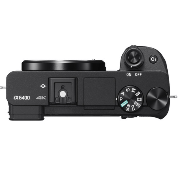 Sony Alpha ILCE-6400 With 24.2MP / FULL HD / WIFI / NFC / 4K / BODY ONLY Mirrorless SLR Camera (Black)