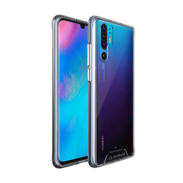 Stuffcool Ice Hybrid Solid Soft Frame with Hard Back Cover for Huawei P30 Pro (Transparent)