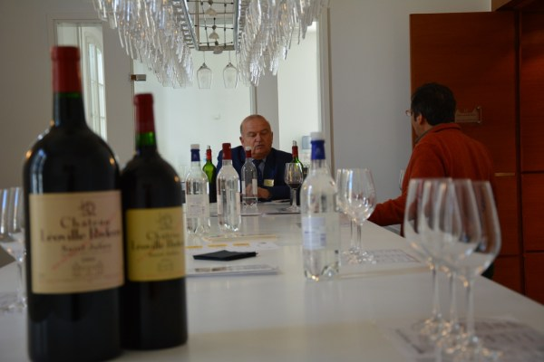 Tasting with Didier Cuvelier. Photo by Laure-Marie Ducloy