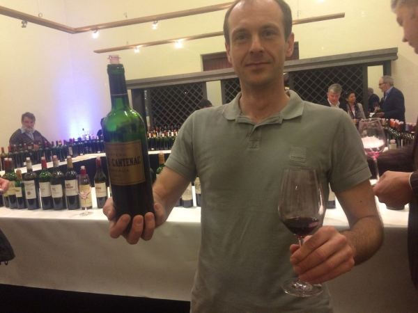 Fellow wine taster and pal Christian Schoen loving Brane Cantenac