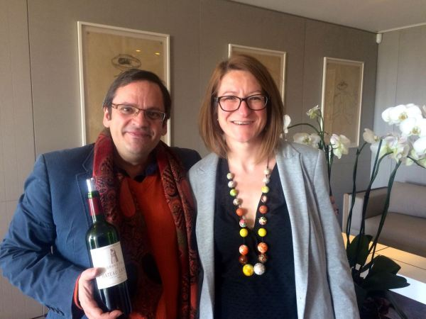 With enologist from Latour