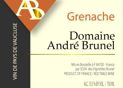 Brunel Grenache label