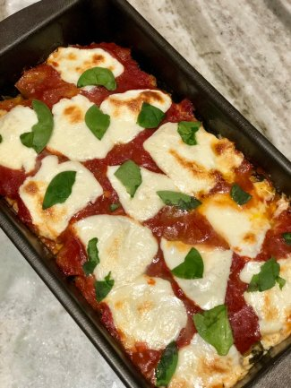 italian spinach and mozzarella stuffed meatloaf