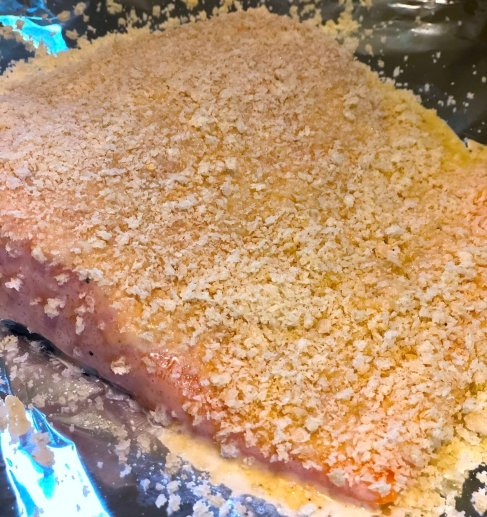Easy Oven Baked Panko Crusted Salmon-a healthy and quick dinner recipe