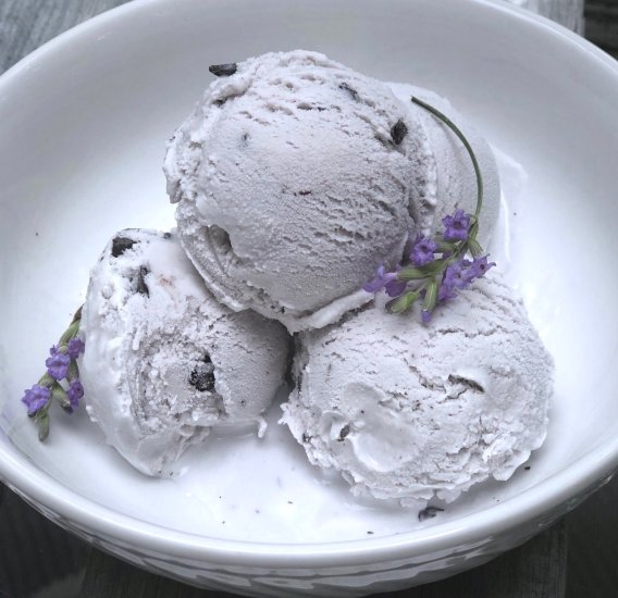Lavender Mocha Chocolate chunk ice cream