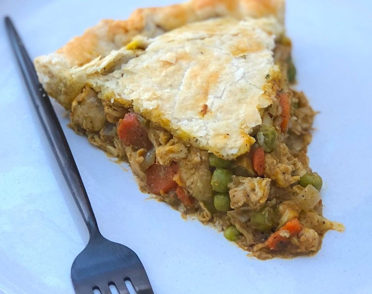 Homemade Chicken Pot Pie with Pumpkin & Rosemary Pie Crust
