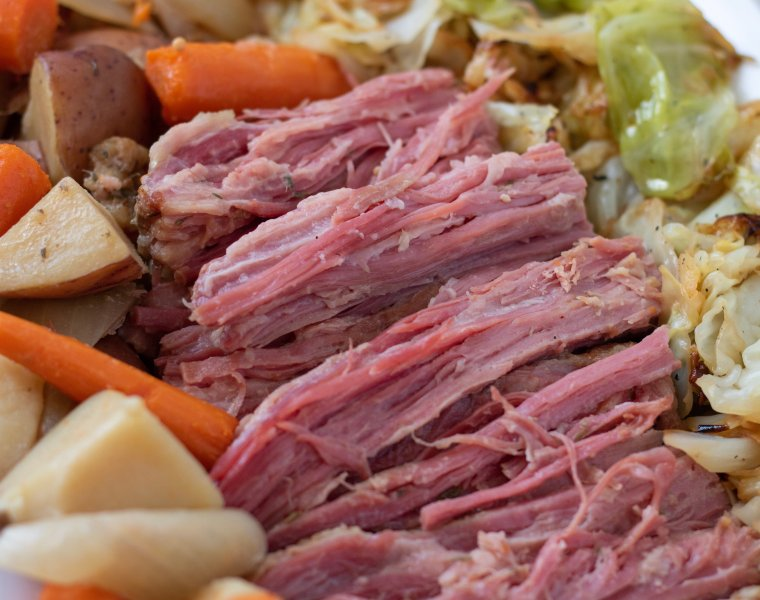 Crockpot Corned Beef and Cabbage Dinner