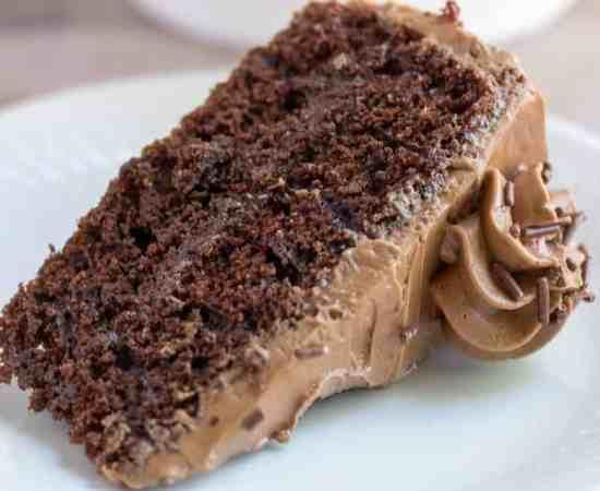 Chocolate Cake with Mocha Swiss Meringue Buttercream