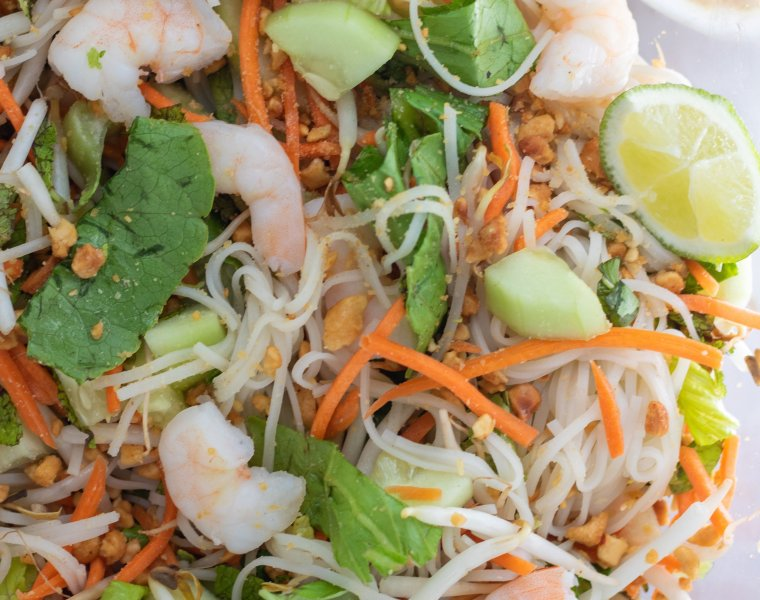 Fresh Shrimp Spring Roll Bowls