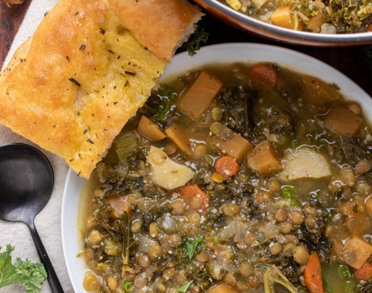 Winter Vegetable Lentil Soup