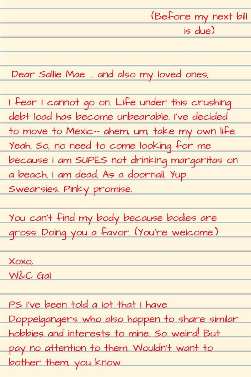 Dear Sallie Mae,