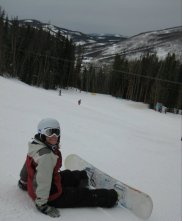 Snowboarding in Vail