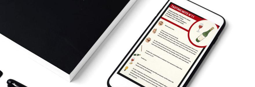 flashcard sur écran de mobile