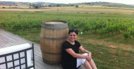 Senay Ozdemir in a vineyard